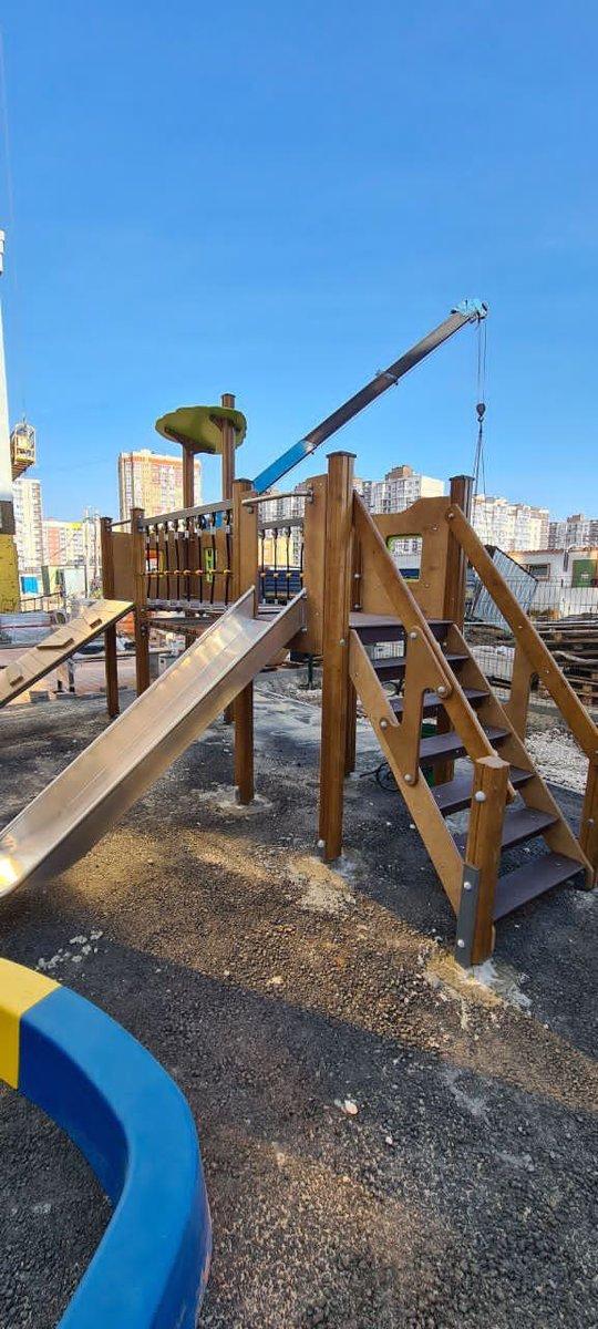 установка детской площадки 1
